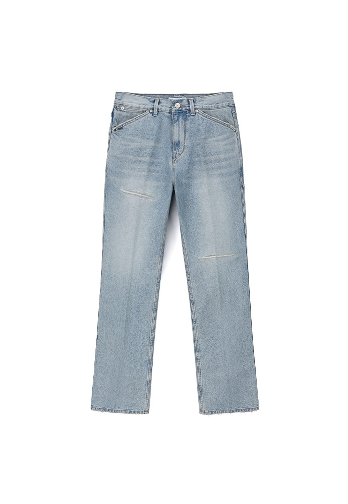 Repaired Flare Denim Jeans
