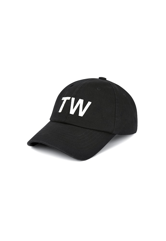 TW-applique Baseball Cap_ Black