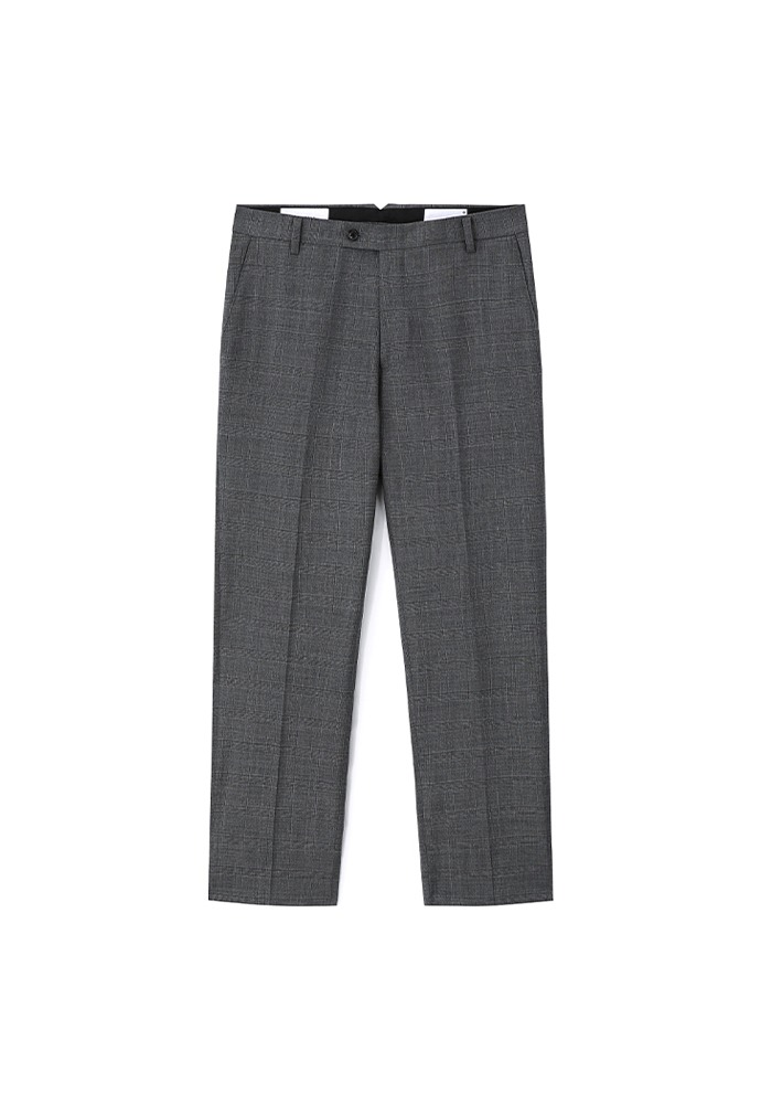 Signature Classic Trousers_ Mid Grey Check